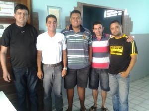 Na foto: João Carlos, Léo Brasil, Vagner Leandro, Eniel Alves e Carlos Silva.